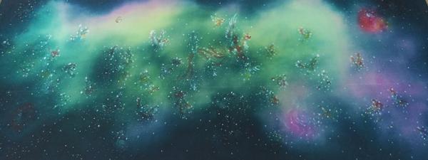 《五星联珠》--中国美术馆收藏涂少辉星空作品