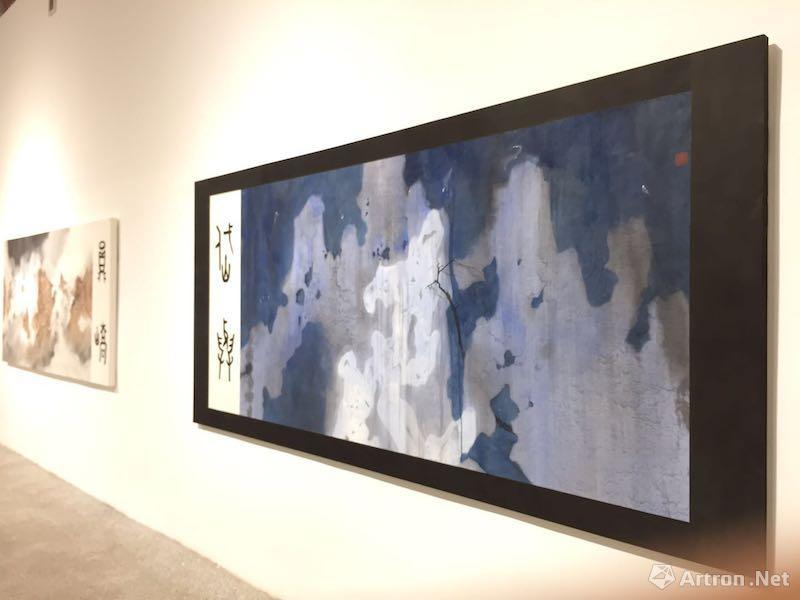 《论两座山的消失2 》   122×244cm    纸本设色    2017