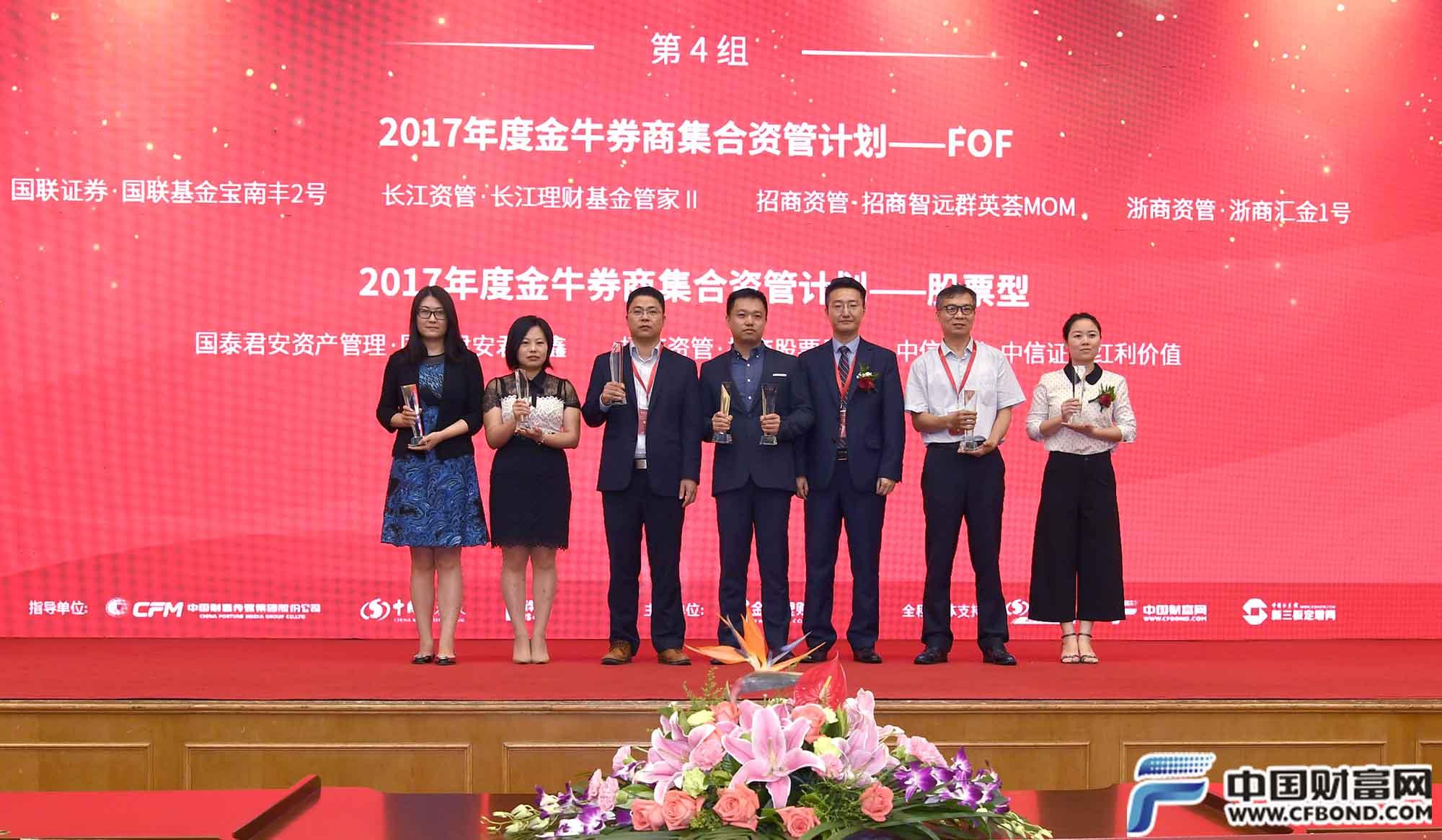 2017年度金牛券商集合资管计划奖项
