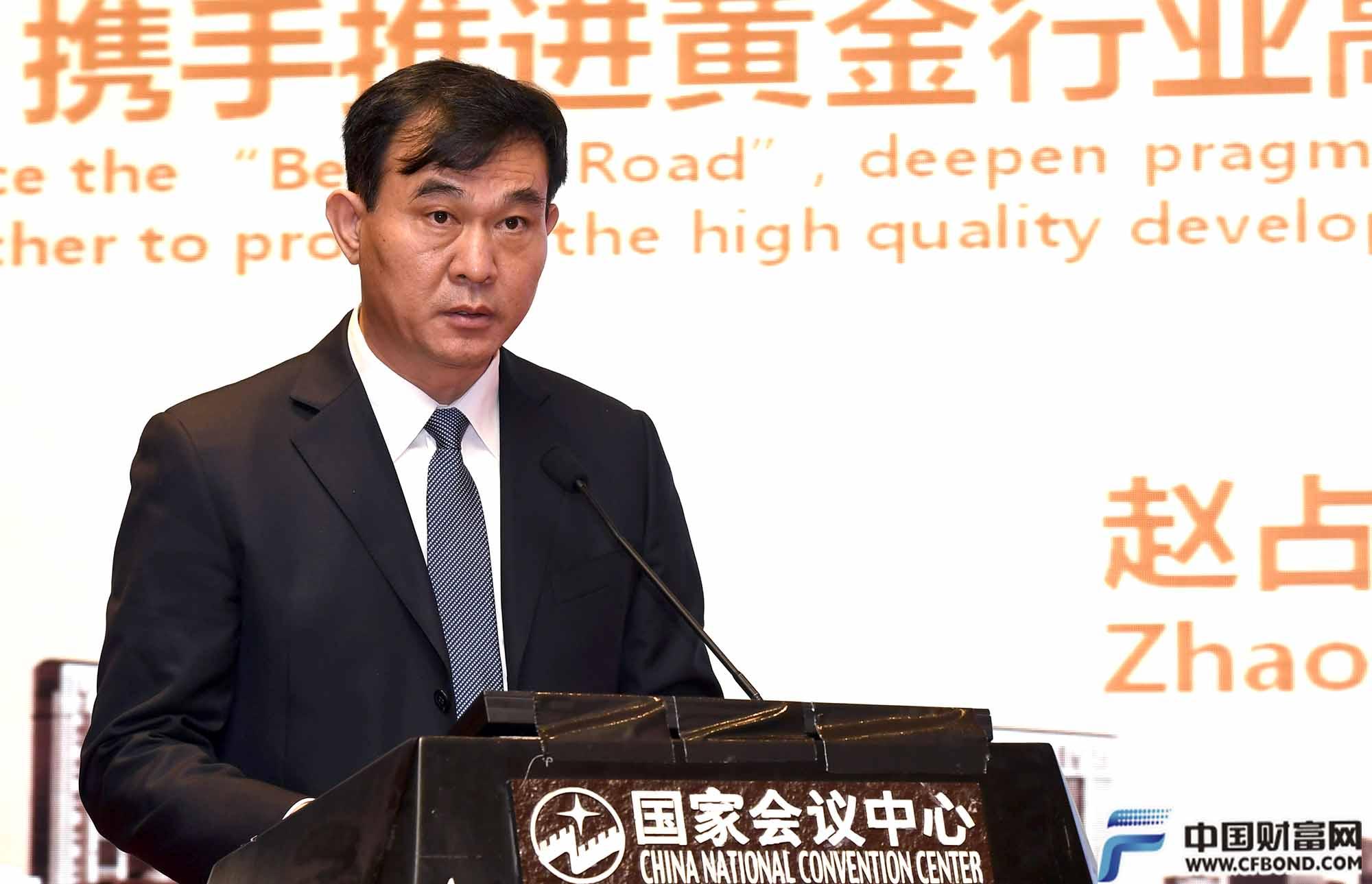 中国黄金集团总经理赵占国发言