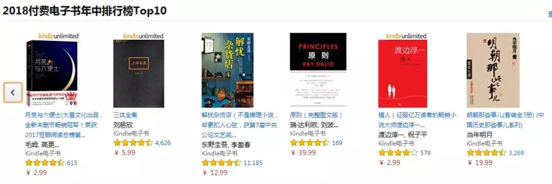 2018亚马逊中国图书年中6大榜发布,哪些书上榜?