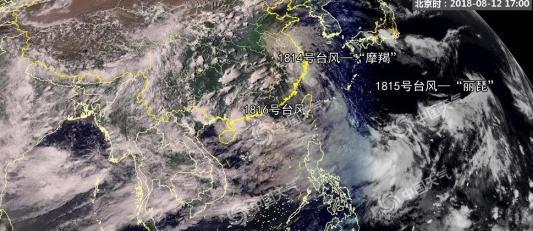 """第14号台风""""摩羯""""登陆浙江温岭沿海"""