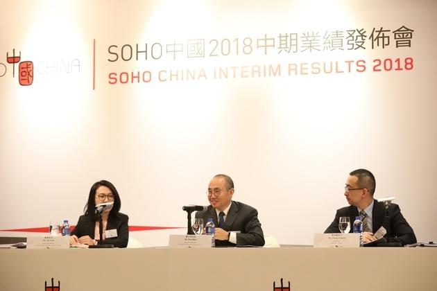 """SOHO中国上半年净利润下滑72% 潘石屹""""股价爱涨涨、爱跌跌"""""""