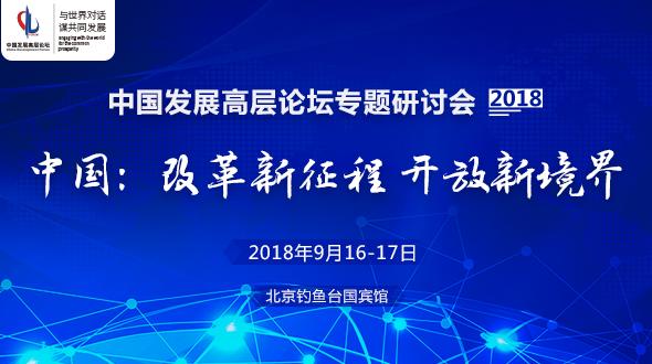 中国发展高层论坛2018年专题研讨会