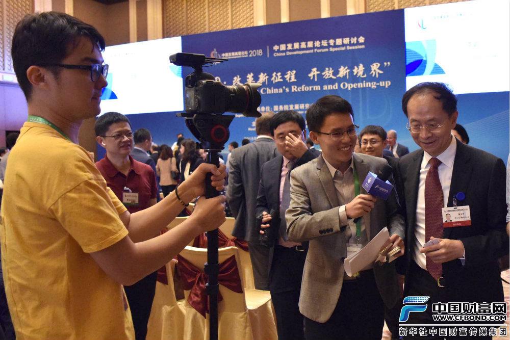 中国财富网记者采访物美控股集团创始人、董事长张文中