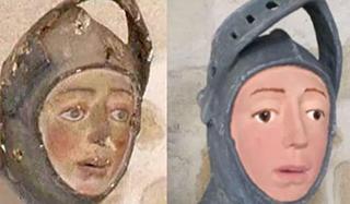 """15世紀圣母圣子像被""""修復""""成樂高人偶"""