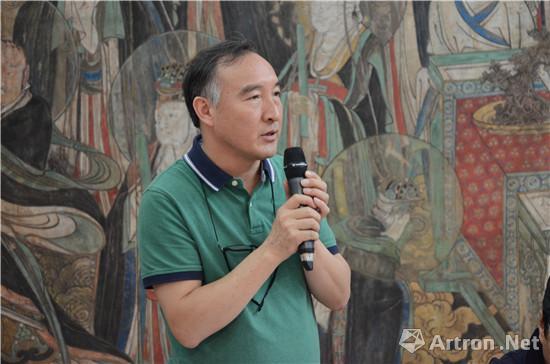 国壁画学会理事、此次国家艺术基金项目主持人王岩松研讨会发言