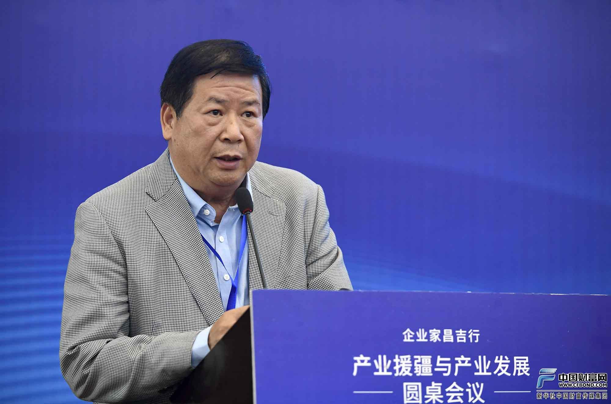 北京厦门商会会长蒋清林发言