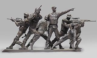 """""""郎钺雕塑艺术作品展""""在江苏省现代美术馆开幕"""