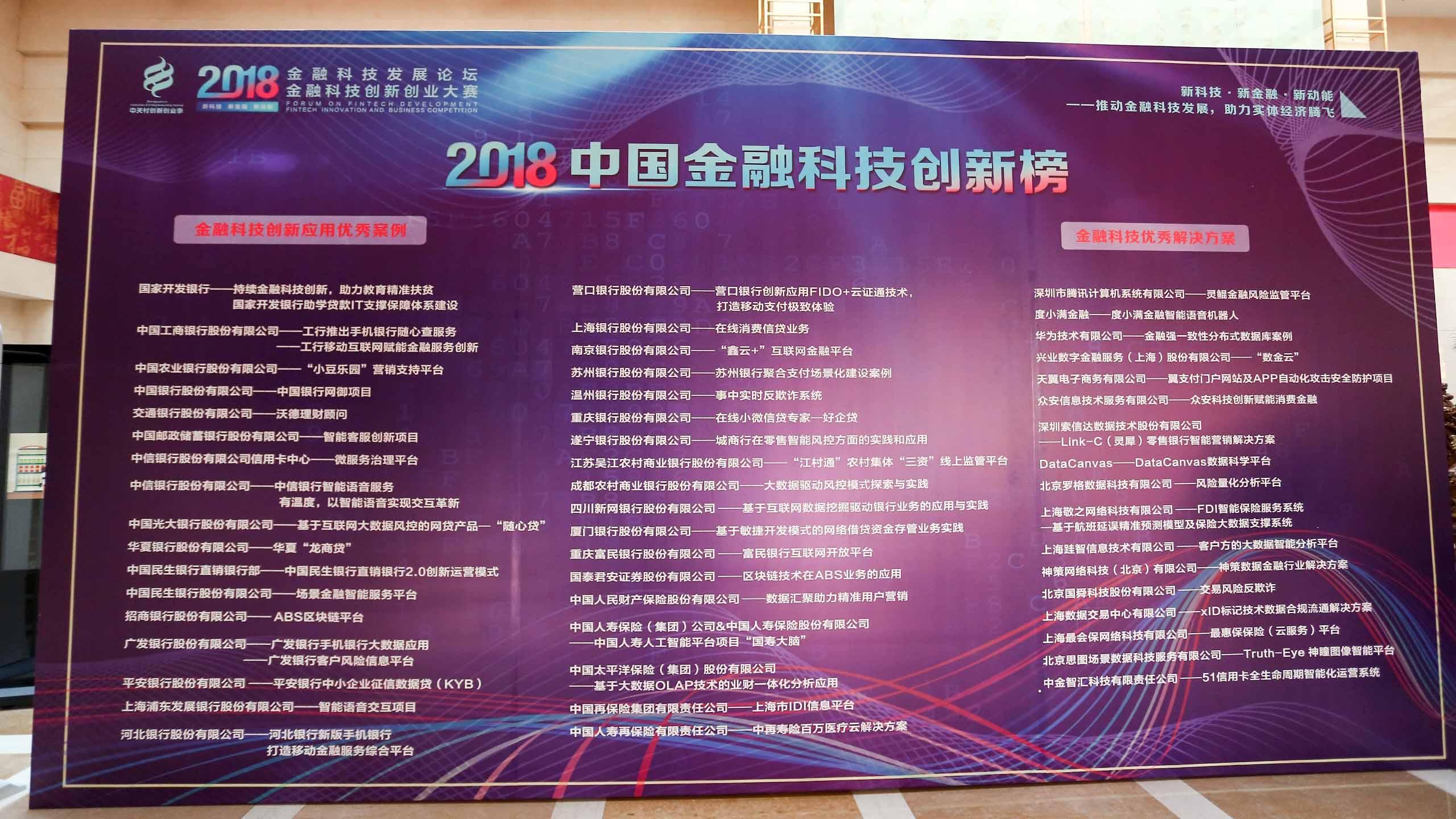 中国金融科技创新榜