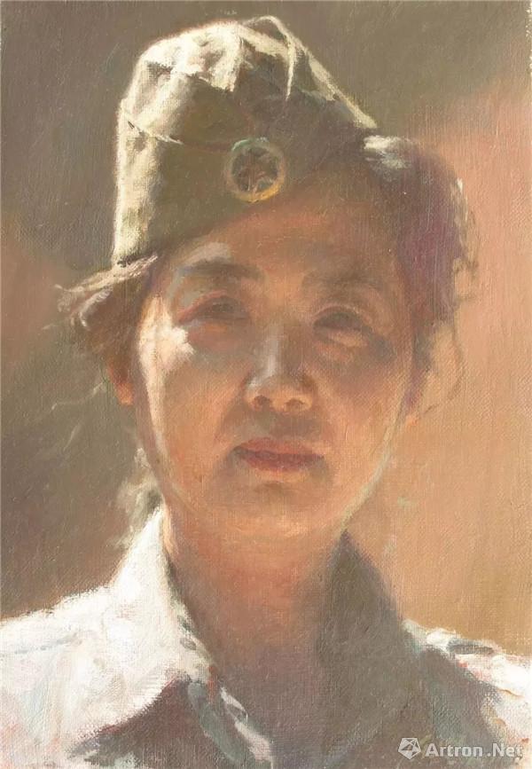 陈坚,老兵,油画 ,15.8cm×27cm,2011年