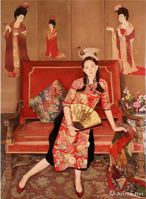 杨飞云,大唐遗韵 ,油画,220cm×160cm,2017年