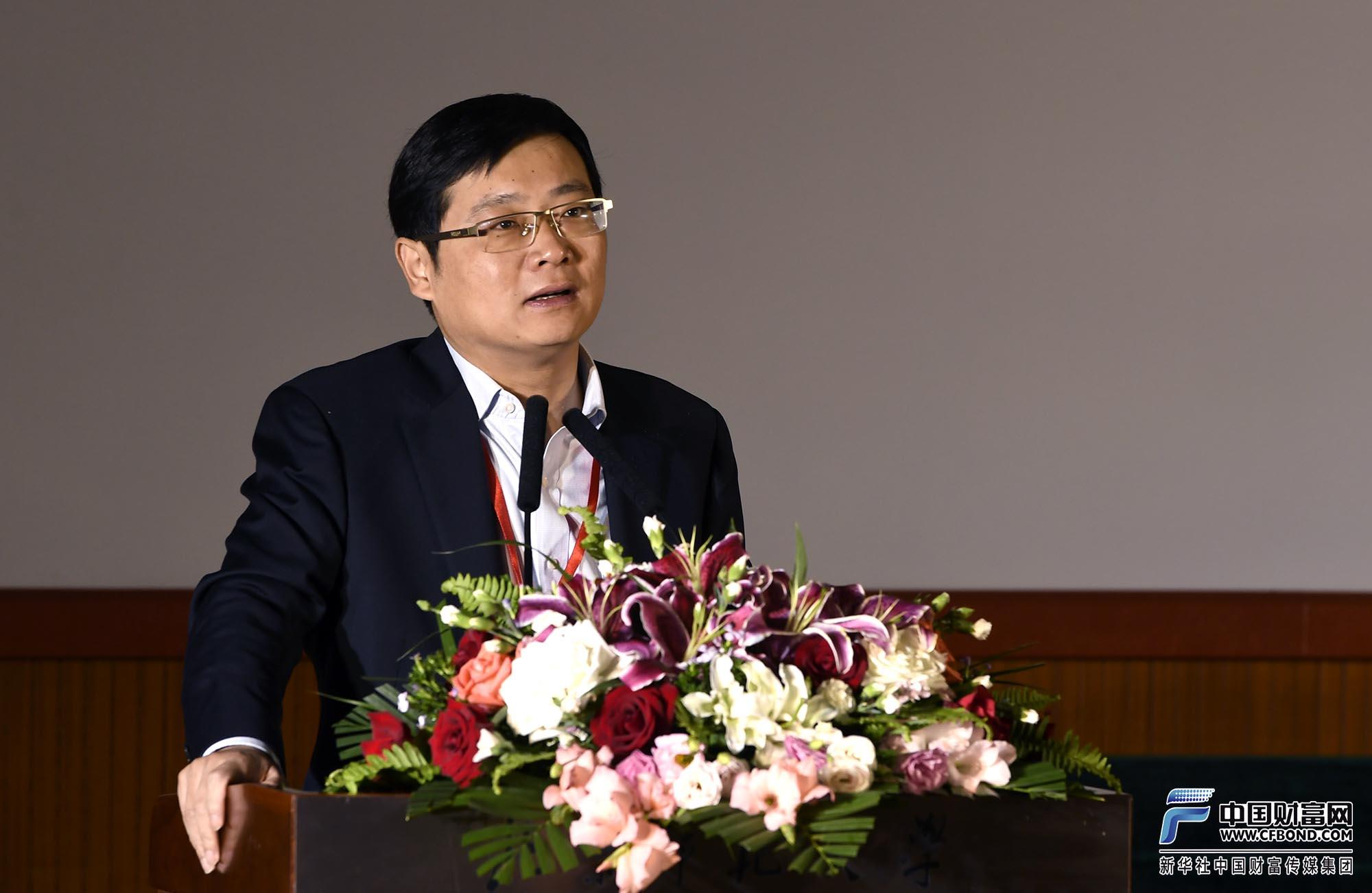 如是金融研究院院长、首席经济学家管清友发表主旨演讲