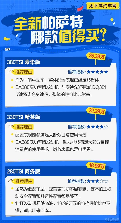 推荐330TSI 豪华版 全新帕萨特怎么选?