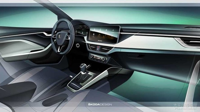 提升科技感 斯柯达发布SCALA内饰设计图