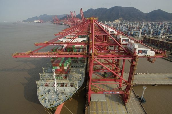 China's Ningbo-Zhoushan port sees record container throughput