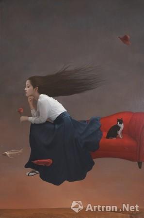 《飞鱼.非鱼》作者:刘诚 材料:布面油彩 尺寸:120X180 年代:2016