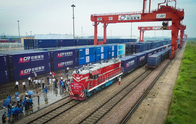 China-Europe freight train services surge in 2018
