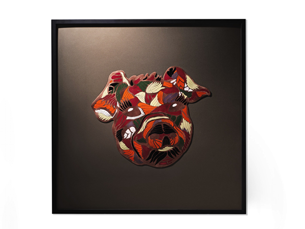 △《猪年生肖珐琅画》,90cm×90cm,珐琅图片