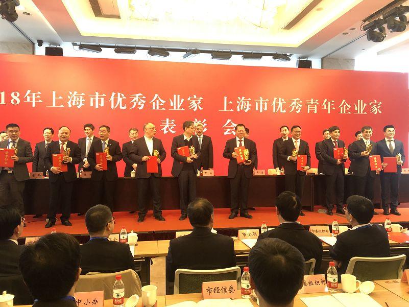 丁佐宏當選2018年上海市優秀企業家