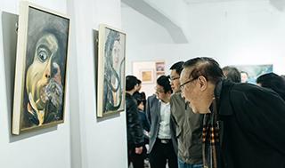 桃之夭夭——金铃子油画作品展三度半艺术空间开幕