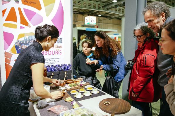 中国展台首次亮相卢森堡移民文化节