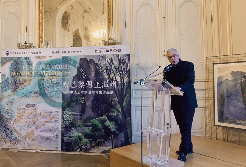 """""""遇上""""——中法艺术家温州写生作品展在凡尔赛隆重开幕"""