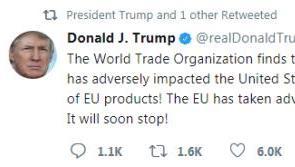 美國威脅對歐盟產品加征關稅