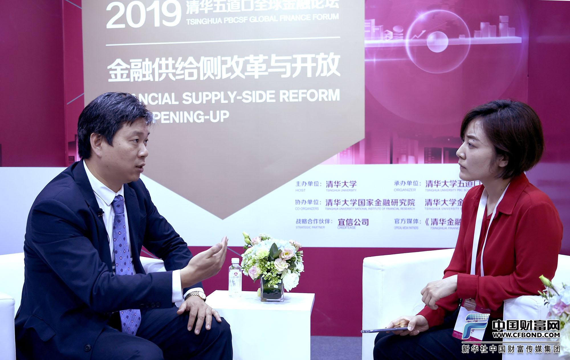 中国财富网记者张静静专访摩根大通董事总经理、中国首席经济学家、大中华区经济研究主管兼中国股票策略主管朱海斌