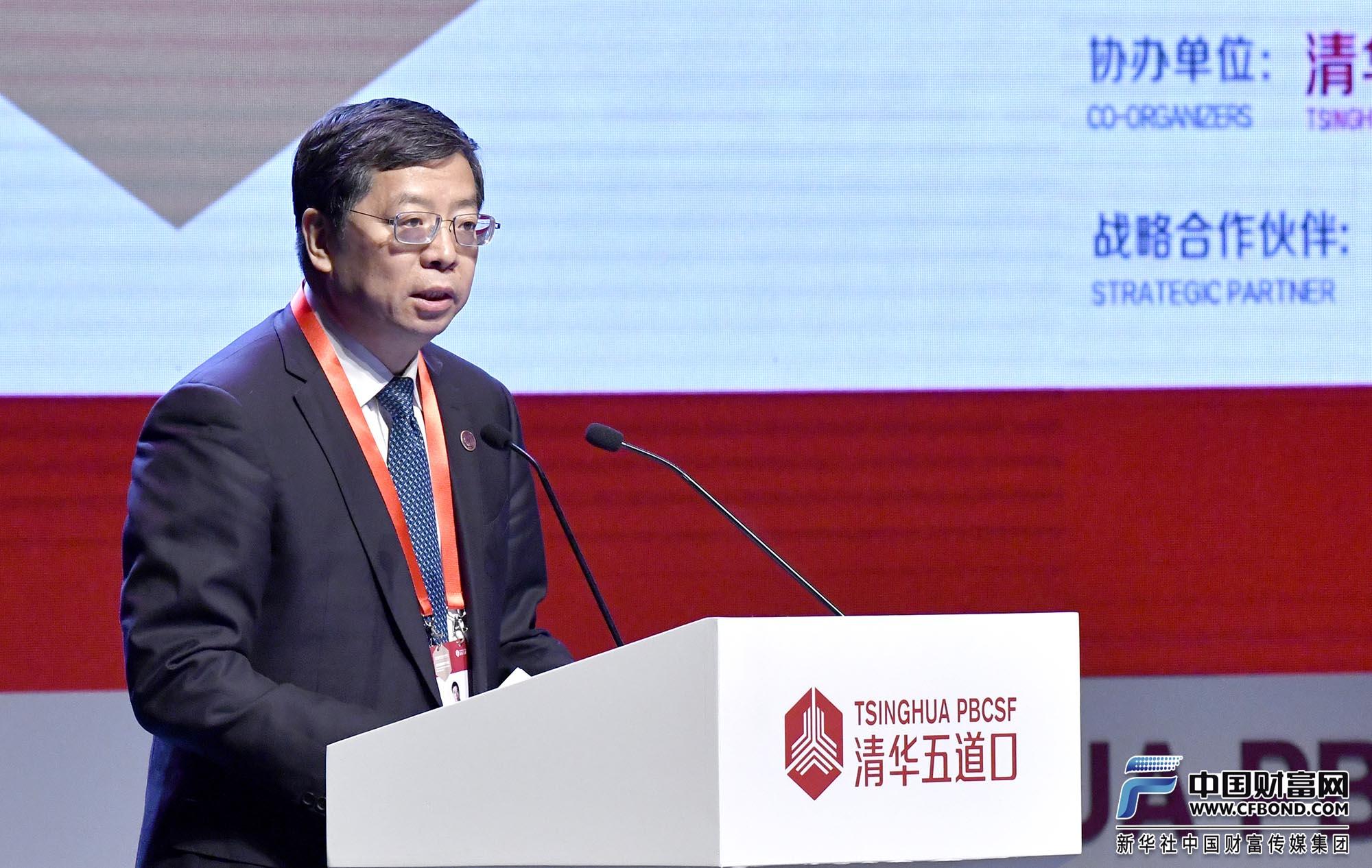 清华大学校长、党委副书记,中国科学院院士邱勇致辞