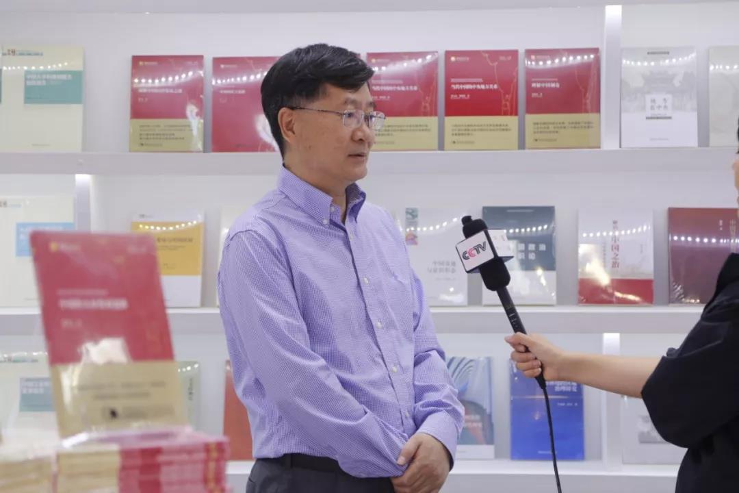 2019-BIBF | 图博会期间中国社会科学出版社社长赵剑英接受央视采访