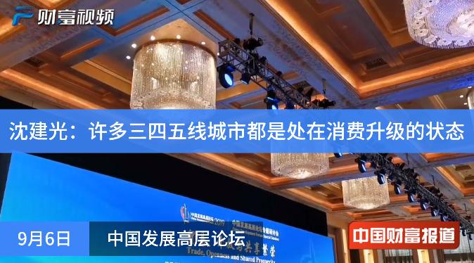 【中国财富报道】沈建光:许多三四五线城市都是处在消费升级的状态