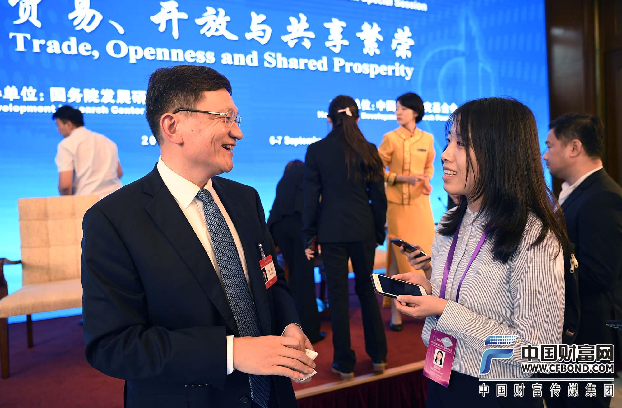 中国财富网记者郝梦圆采访宜信公司创始人、CEO唐宁