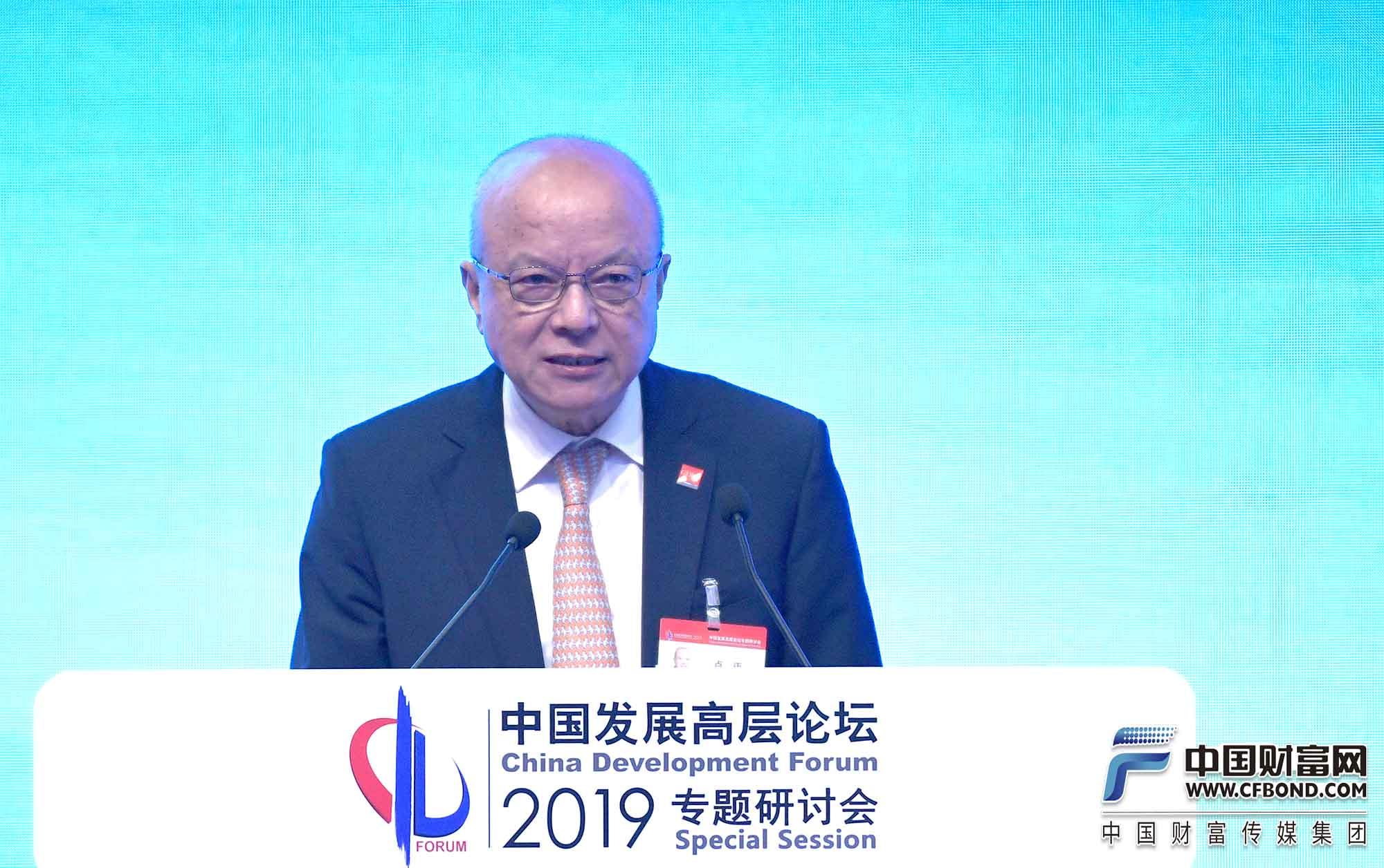 中国发展研究基金会副理事长、中国发展高层论坛秘书长卢迈总结发言