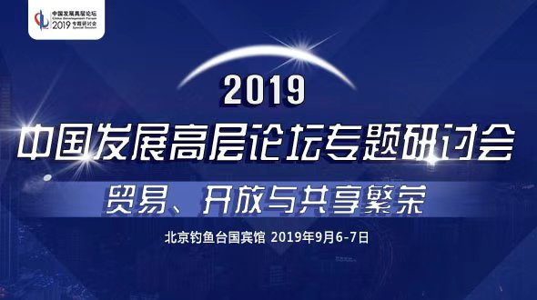 2019中國發展高層論壇專題研討會