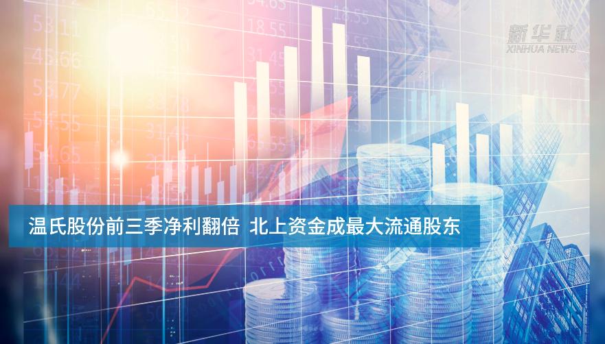 【中國財富報道】溫氏股份前三季凈利翻倍 北上資金成最大流通股東