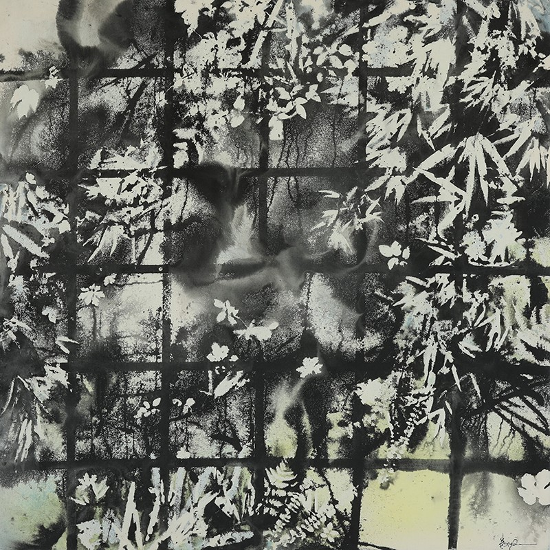 """画布上的水墨与色彩共舞――对话""""彩墨抽象""""画法开创者叶星千"""
