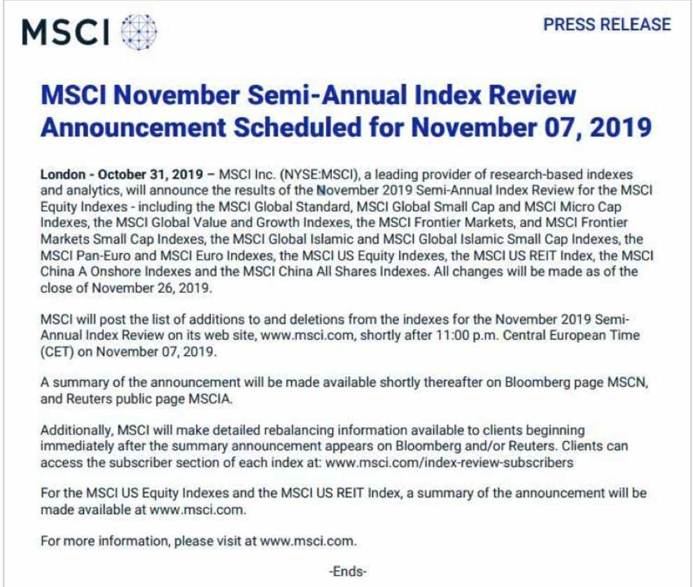 MSCI将迎历史最大单次扩容 哪些个股最受益?