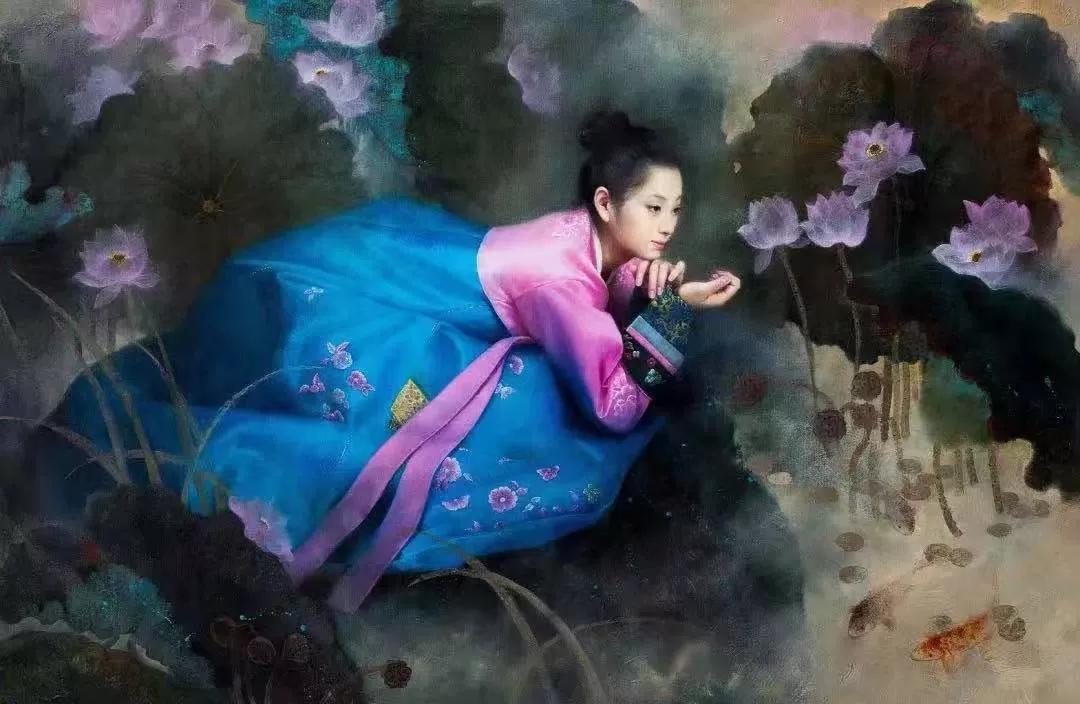 """""""惟美无界——当代朝鲜油画精品展""""在南京图书馆开幕"""