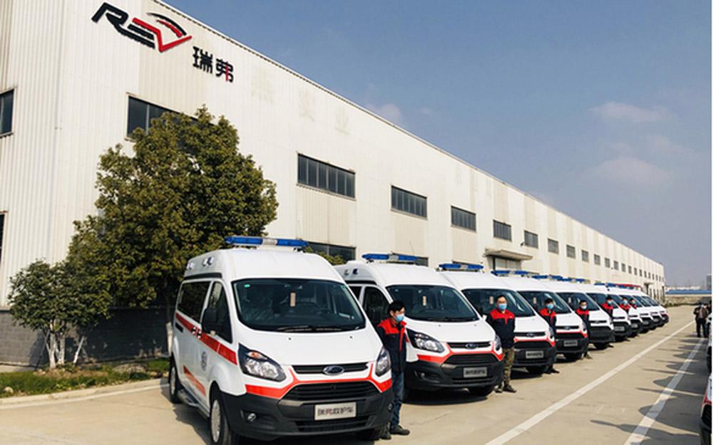 奇瑞瑞弗首批20辆负压救护车今日交付