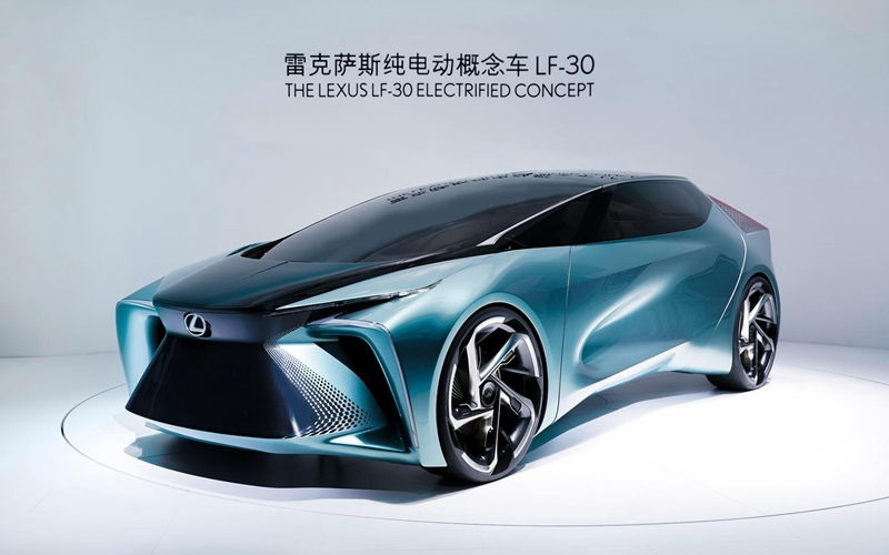 雷克萨斯纯电动概念车LF-30中国首秀 彰显电气化愿景