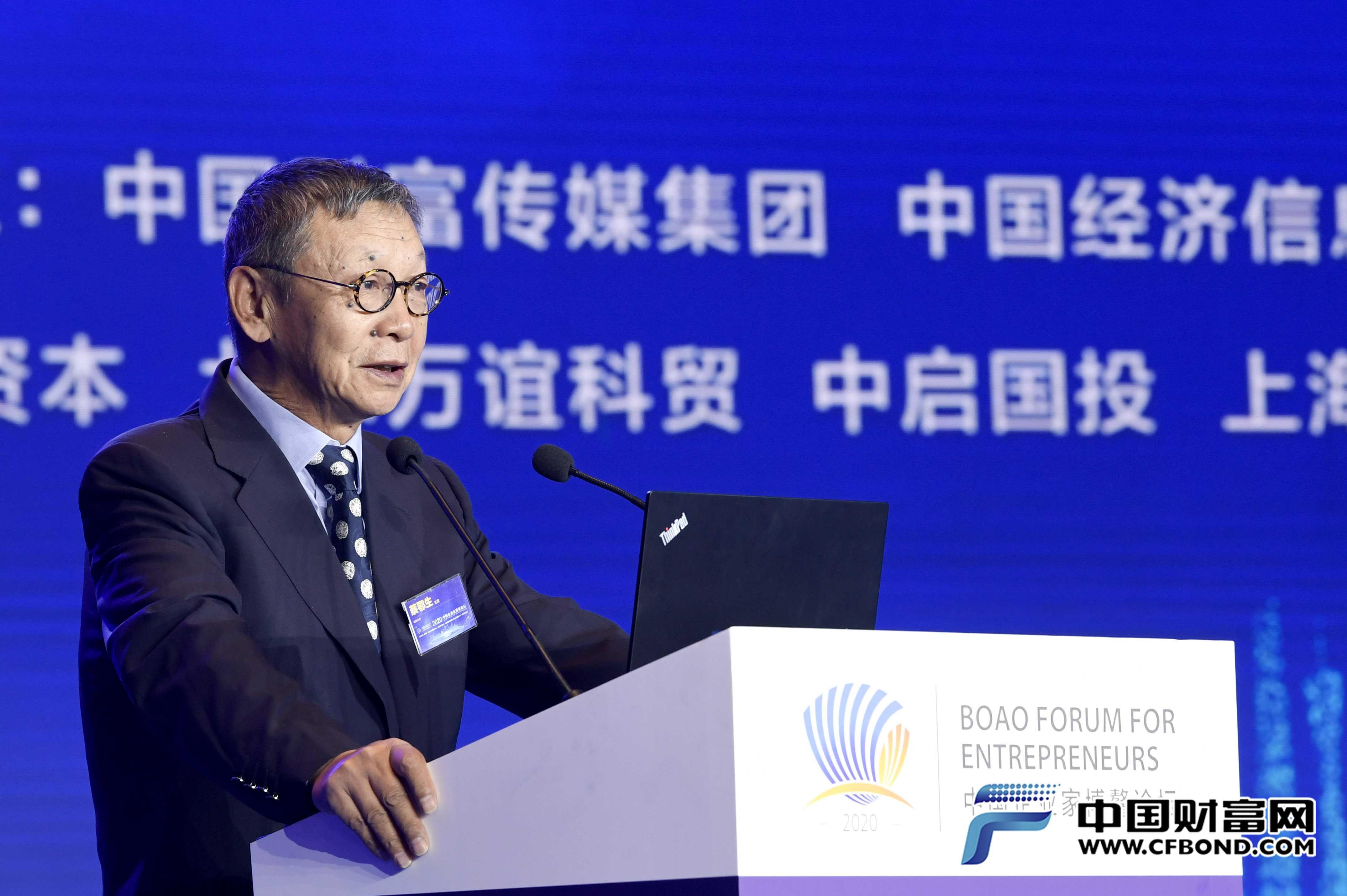 原中国银监会副主席、南南合作金融中心主席蔡鄂生发言