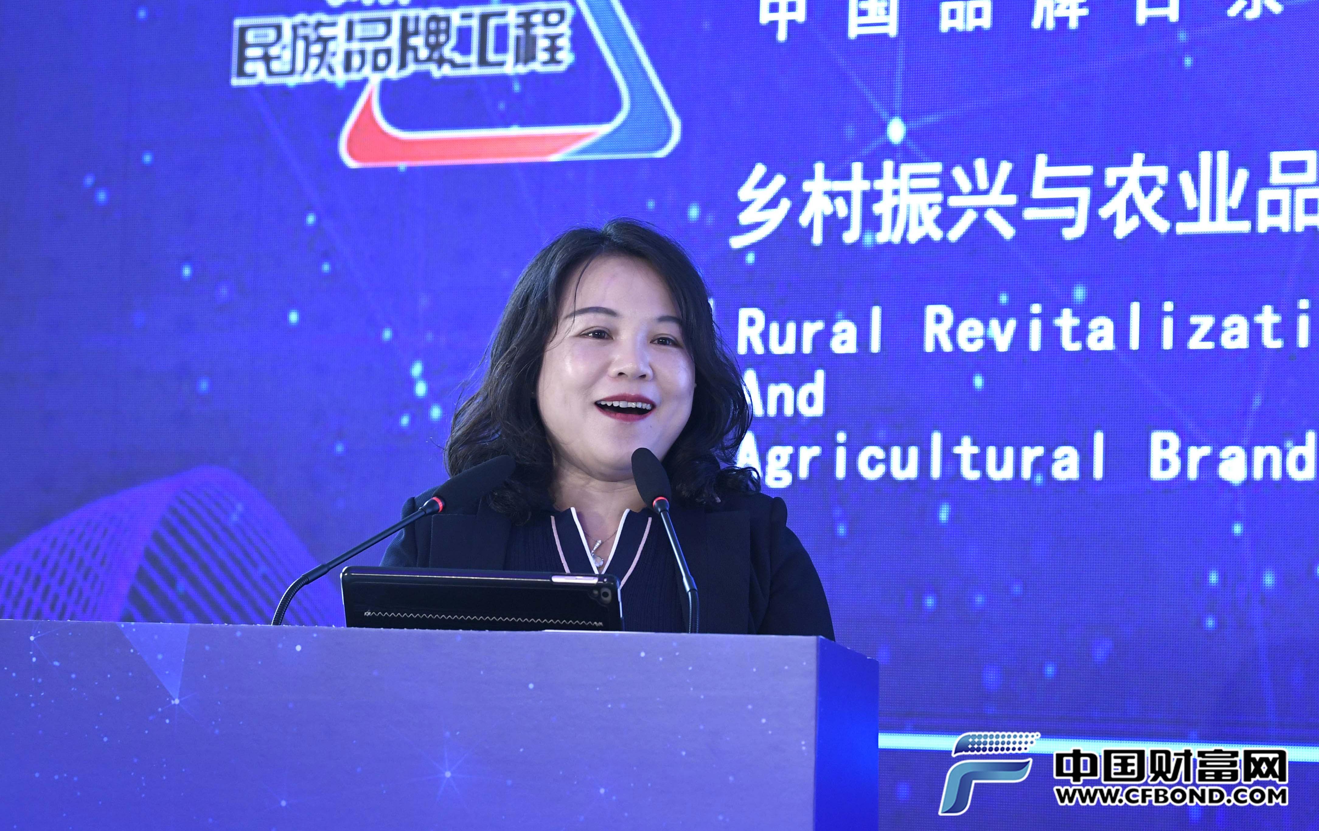 贵州南山婆集团董事长包爱明发表主题演讲